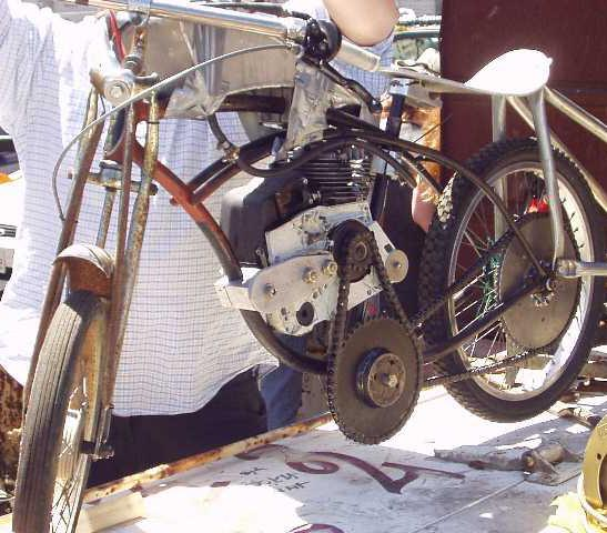 How to assemble a homemade moped from improvised materials?