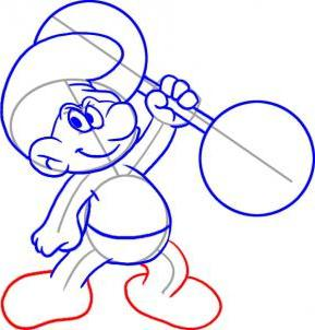 Drawing lessons with children: how to draw smurf
